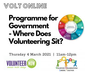 Programme for Government - Where Does Volunteering Sit?